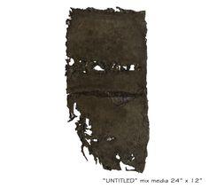 """untitled"" mix media on cotton wool,  size :12''x24''"