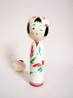 Other Asian Antiques Vintage Antique Huge Signed Japanese Kokeshi Wood Doll Neither Too Hard Nor Too Soft