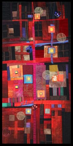 Rosalie Dace - Art Quilt Tahoe Beautiful colors
