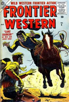 Pencil Ink comic book artists blog 1950s 1960s 1970s 1980s : Frontier Western #5 - Al Williamson, Matt Baker art, Russ Heath cover