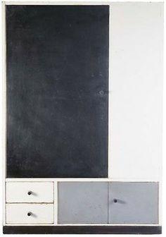 Marcel Breuer & Katt Both, Wardrobe for a children's room, 1924. Made by the Bauhaus Carpenter's Workshop, Weimar. Door pain...