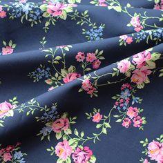 kbA-Baumwolldruckstoff Rose Aurelie
