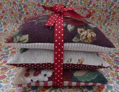 3 Handmade Lavender Sachets  Vintage by MillyMollyFabDesigns