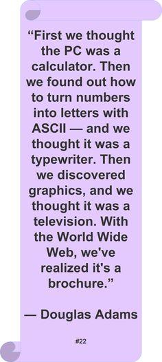 Douglas Adams ~ ♥ #Quote #Author #Funny ♥