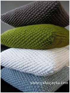 Жемчужный узор спицами для подушки или пледа. Крупный жемчужный узор схемы | Я Хозяйка