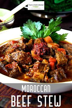Moroccan Beef Stew is hearty, flavorful and perfect for a chilly night!  It's perfect slowly simmered on the stovetop, in the oven or pressure cooker. #moroccanfood #moroccan #beef #beefstew #meat #beefstewrecipes Pressure Cooker Beef Stew, Best Pressure Cooker Recipes, Slow Cooker Soup, Stew Meat Recipes, Beef Stew Meat, Lamb Recipes, Moroccan Beef Stew, Freezer Friendly Meals, Middle Eastern Recipes
