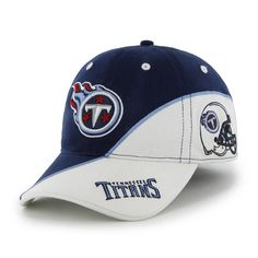 detailed look d99b2 e4612 Tennessee Titans Full Block Light Navy 47 Brand Stretch Fit Hat