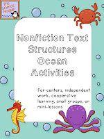 Oceans Nonfiction Text Structures Freebie