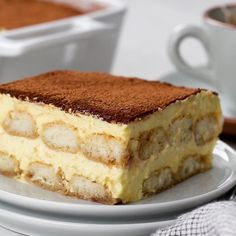 Let's make Tiramisu, a classic Italian no-bake dessert! It's made with espresso dipped ladyfingers layered with rich and creamy mascarpone filling, and topped with cocoa powder. #tiramisu #nobakedessert #mascarpone No Bake Desserts, Just Desserts, Delicious Desserts, Dessert Recipes, Yummy Food, Snack Recipes, Baking Desserts, Whole30 Recipes, Holiday Desserts