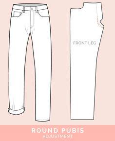 Round Pubis Adjustment // 12 common jeans and pants adjustments // Closet Case Files