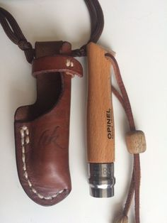 Customized Opinel No.8 knife with handmade by AtelierTreteau