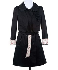 Another great find on #zulily! Black Hidden Secret Coat by Deep or Shallow #zulilyfinds