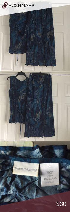 Worthington top and skirt set**2 piece set Top and skirt set from worthington Worthington Dresses