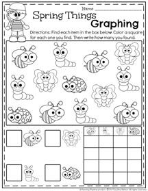 Preschool Graphing Worksheets for Spring