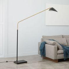 Shop overarching curvilinear mid-century floor lamp from west elm. Find a wide selection of furniture and decor options that will suit your tastes, including a variety of overarching curvilinear mid-century floor lamp. Tall Floor Lamps, White Floor Lamp, Brass Floor Lamp, Led Floor Lamp, Black Floor, Metal Floor, West Elm Floor Lamp, Contemporary Floor Lamps, Modern Floor Lamps