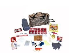 Children's Survival Kit w/ CAMO Wheeled Bag