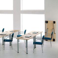 Mesas polivalentes rectangulares. Perfectas para grupos de formación o aulas. http://laoficinaonline.es/mesas-para-aula/170-mesa-polivalente-pie-fijo-rectangula.html