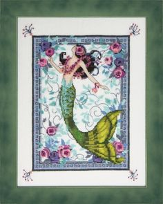 Moonlight Laguna Mermaid by Nora Corbett, Model: stitched on Ct. Stitch Count: x Mill Hill Beads required: required: - Waterlillies required: DMC Floss required: Counted Cross Stitch Patterns, Cross Stitch Embroidery, Embroidery Patterns, Hand Embroidery, Mermaid Cross Stitch, Mill Hill Beads, Dmc Floss, Pony Beads, Cross Stitching