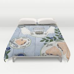 Blueberry Scones Duvet Cover