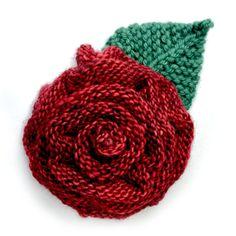 Festive Rose – Ambah Knitted Flower Pattern, Knitted Flowers, Flower Patterns, Easy Crochet Hat, Knit Crochet, Baby Jessica, Stitch Patterns, Knitting Patterns, Last Stitch