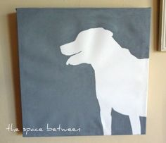 silhouette of your dog....I think I will recreate on pillow.