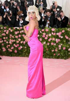 Lady Gaga Met Gala, Lady Gaga Photos, Hollywood Red Carpet, Gala Dresses, Anna Wintour, Costume Institute, A Star Is Born, Pink Dress, Actresses
