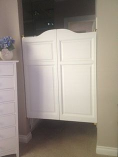 Solid Poplar Western Cafe Doors / Saloon Doors with Arched Top