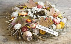 Autumn wreath with acer leaves Autumn Wreaths, Acer, Fall Decor, Leaves, Fall Wreaths, Fall Decorating, Autumn Decorations