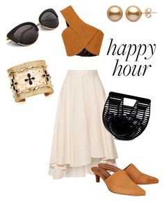 """Happy hour"" by rockyourpetiteness on Polyvore featuring Rosetta Getty, Miguelina, Maryam Nassir Zadeh, Cult Gaia and Aurélie Bidermann"