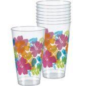 Hibiscus Plastic Tumblers - Party City