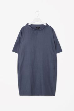 COS image 2 of Standing collar dress in Sapphire
