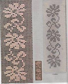 Resultado de imagem para bicos de croche com graficos para caminho de mesa
