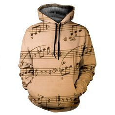 Music Notes Hoodie by Yo Vogue Clothing - This beautiful hoodie is made using an extremely soft garment and HD Photographic Printing Technology. The fine mixture of polyester and cotton allow us to print high definition images and create unique, fresh and innovative products. Just $69.95 from yovogueclothing.com Stand out from the crowd - Yo Vogue Clothing!