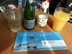 Mit dem Ice von Fulda nach Hamburg auf die AIDA nach Norwegen - als Bordproviant natürlich Rotkäppchen Rosé dabei :-)