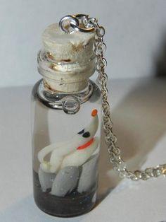 Wish | Nightmare Before Christmas Zero Glow in the Dark in a Bottle Necklace