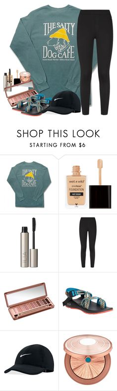 """"""""""" by southernstruttin ❤ liked on Polyvore featuring Comfort Colors, Ilia, NIKE, Urban Decay, Chaco and Estée Lauder"""