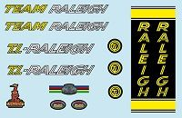 Raleigh Team Pro decals transfers stickers