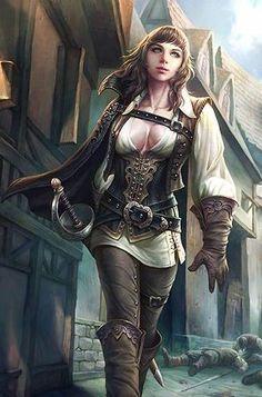 Female human pirate sword fighter