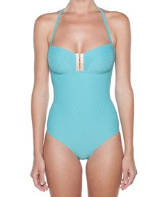 Bring the fashion show to the beach with a sand-covered runway and this swimsuit as the featured piece. Show off those curves in a formfitting, sultry one-piece.Size note:This product runs in French sizing. Please refer to size chart for US sizing.78% polyamide / 22% elastaneMachine wash; han...