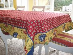 Shabby French Tablecloth And Matching Chairs
