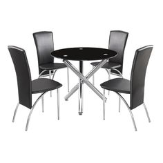 Callisto Clear Glass Dining Table With 2 Deluxe Dining Chairs | Dinning  Table | Pinterest | Chairs, Glasses And Glass Dining Table