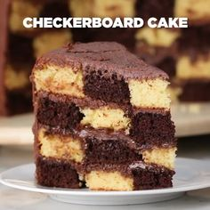 Checkerboard Cake, Cake Decorating, Cooking Recipes, Sweets, Baking, Desserts, Food, Creative Desserts, Delicious Recipes