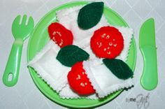 Pretend Food, Ideal Toys, Basil Leaves, Felt Food, Little Kitchen, Ravioli, Cherry Tomatoes, To My Daughter, Menu