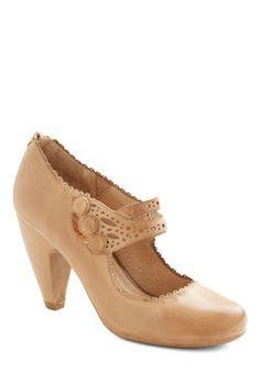 Dance the Day Away Heel in Tan. You and this tan heel from Miz Mooz make one great dance team! #tan #modcloth