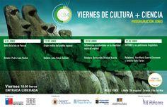 Junio con temática rapanui en @museofonck en Viernes de Cultura + Ciencia
