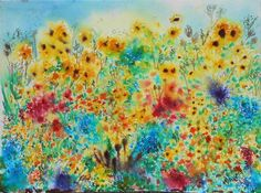 Field of Dreams by Annie Davenport - Win vouchers worth from Winsor & Newton in our Calendar Challenge - February 2020 Field Of Dreams, Competition, Palette, Challenges, Colour, Illustration, Artist, Painting, Color