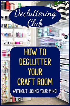 Craftroom Organization Ideas: Decluttering Club - How To Declutter Your Craft Room without losing your mind! Craft Room Organization Ideas - Declutter Your Craftroom WITHOUT Feeling Overwhelmed Diy Organizer, Family Organizer, Organizing Hacks, Home Organization Hacks, Storage Hacks, Contemporary Bedroom Sets, Sewing Room Organization, Budget, Arts And Crafts Supplies