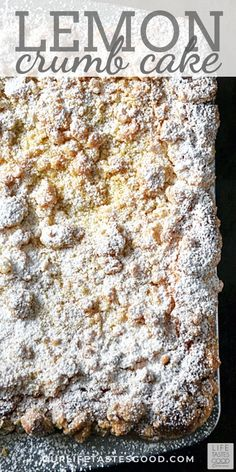 lemon desserts This make-ahead Lemon Crumb Cake is perfect for your EASTER BRUNCH. EASY to make sweet cake with a tangy LEMON CURD swirl and the most amazing crumb topping! Serve this for brunch or save it for dessert after your Easter dinner. Lemon Desserts, Lemon Recipes, Easy Desserts, Baking Recipes, Sweet Recipes, Delicious Desserts, Cake Recipes, Make Ahead Desserts, Lemon Curd Dessert