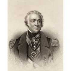Sir Charles Napier 1786-1860 Count Napier De Sao Vicente Commander Of The British Baltic Fleet 19Th Century Print Drawn And Engraved By Gibbs Canvas Art - Ken Welsh Design Pics (13 x 17)
