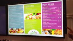 Digital Menu Boards updated using Excel at IFE13